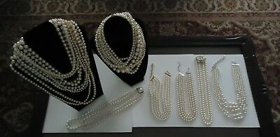 Costume Jewelry Pearl Necklace Lot