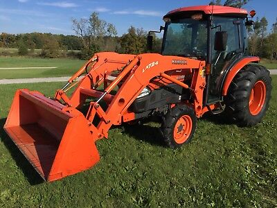 Kubota L 3940 D Cab Tractor And Loader Diesel