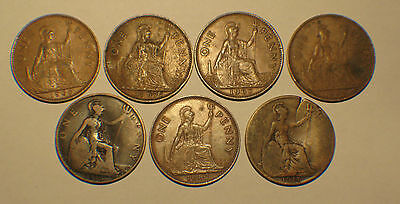 UK, Great Britain , One Penny Lot qty (7)