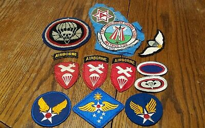 Vintage military patches lot of 12