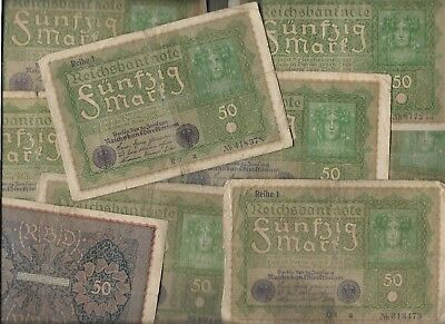 Rare Old Antique Vintage German Post WWI War Berlin Note Germany Collection Lot
