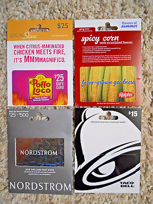 Gift Cards, Collectible, new, unused, with backing, no value on cards       (UU)