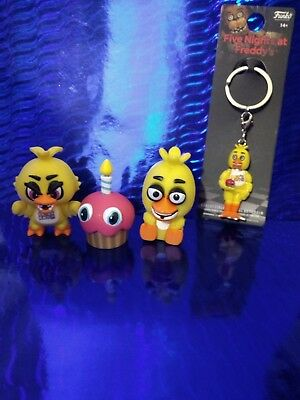 Five Nights at Freddy's Lot - Chica keychain, Squeeze - Figure - Cupcake