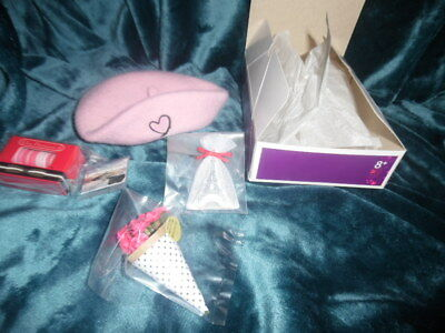 American Girl Doll Grace Thomas Welcome Gifts Macaroons Beret NEW! Retired