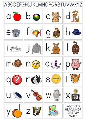 Alphabet ABC Phonics Poster |A4 A3 & A3+ Sizes | LAMINATED Kids Learning Letters
