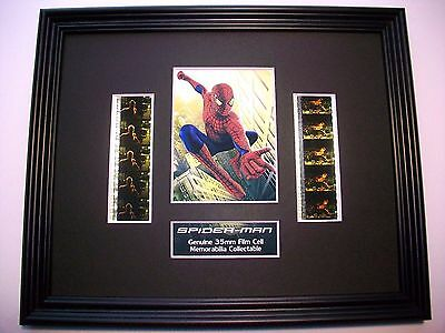 SPIDERMAN Framed Movie Film Cell X 10 - compliments dvd poster