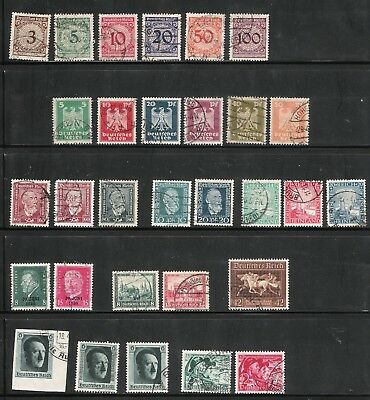 Nice Lot of Third Reich German Stamps Including SC. B-90,  B-140 and B-147 +++