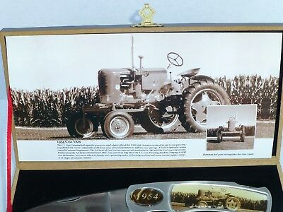 1954 Case VAH Tractor Two Stainless Steel Knife Collector Set