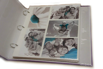 Arpan 20 Refill Photo Album Sheet Holds 6x4'' 200 Photos For Large Ringbinder by