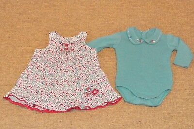 Baby Girls 2 piece Outfit, Age 6 months, United Colours of Benetton.