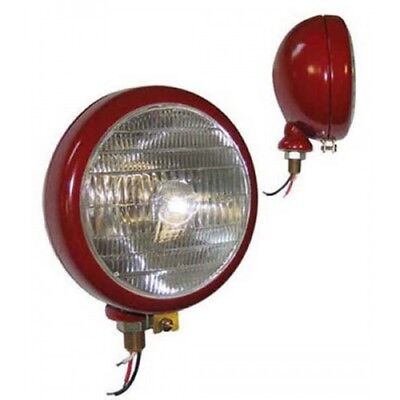 Phare Complet Rouge Avec Ampoules 12V Fixation Verticale Diam 160mm