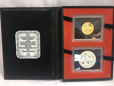"""1975 Cayman Islands $100 Gold And $50 Silver Proof Set """"Six Queens"""""""