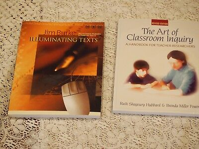 Education Book Lot Art of Classroom Inquiry and Illuminating Texts Burke Hubbard