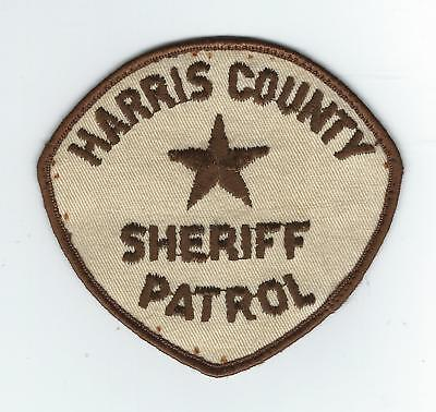 VINTAGE HARRIS COUNTY, TEXAS SHERIFF PATROL(CHEESE CLOTH BACK) patch