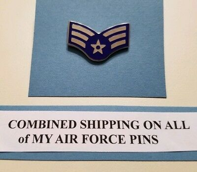 USAF US Air Force  ENLISTED SERGEANT Rank Insignia Stripes Metal LAPEL Pin 22 M