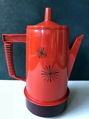 Vintage Regal Poly Perk Coffee Pot Electric Percolator Starburst Kitchen Decor