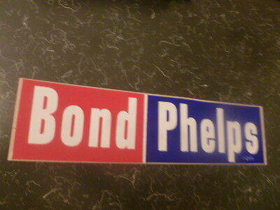 Governor Missouri Campaign Christopher Kit Bond Phelps Lt. Local Bumper Sticker