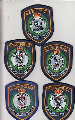 Australia. NSW Police. 5 Different Social Only Mint Patches.