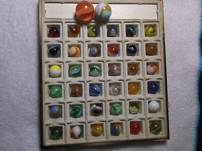 Nice Lot of Antique / Vintage Marbles With 2 Shooters