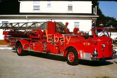 TWO RIVERS, WI Fire Apparatus Slide: T-11 1947 ALF