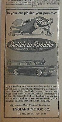 1957 newspaper ad for Rambler - Station Wagon, is your car picking your pockets?
