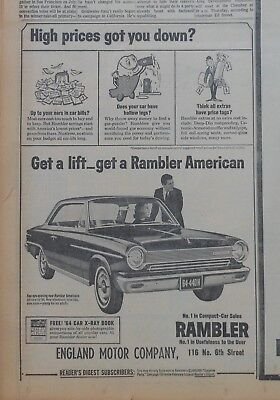 1964 newspaper ad for Rambler - Get A Lift Get Rambler American