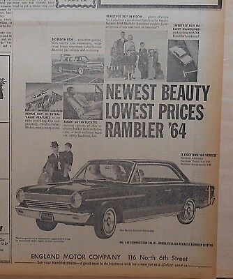1963 newspaper ad for Rambler - '64 American 440 hardtop Newest Beauty