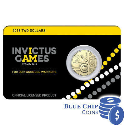 2018 UNC $2 Invictus Games Sydney Coin on Card Limited Edition