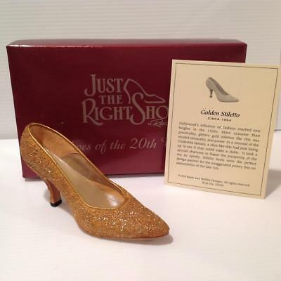 Just the Right Show by Raine Golden Stiletto 1954 Shoes of the 20th Century NIB
