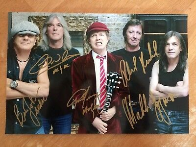 AC/DC Signed 8x12 Angus Malcolm Young