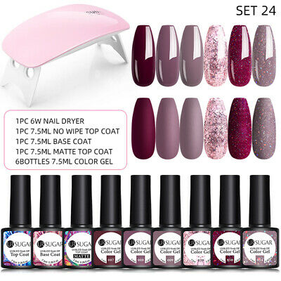 LEMOOC 12ml Smalto Gel UV Semipermanente Nail Art UV Gel Polish Soak off Nudo