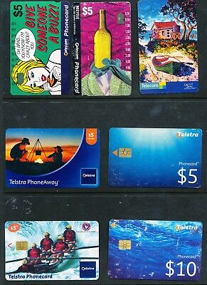 Selection of Australian Phonecards Used (144)