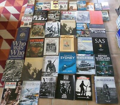Collection (lot) of 40 mainly military books & magazines.