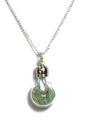 Roman Glass Pendent Fragments  200 B.C Silver Ancient  in Glass bottle