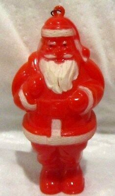 Antique Celluloid Santa Christmas Ornament~Candy Container~NR!