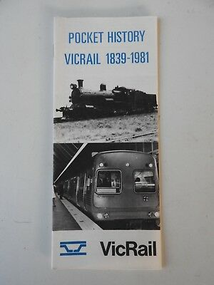 Victorian Railways VR Vicrail Pocket History Pamphlet. Book/Magazine etc.
