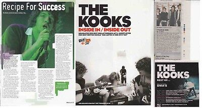 THE KOOKS : CUTTINGS COLLECTION -adverts interview-