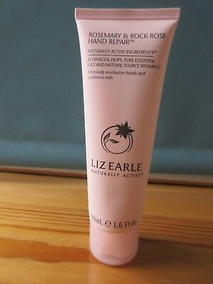 Liz Earle Rosemary & Rock Rose Hand Repair Hand Cream   - 50 Ml - New -