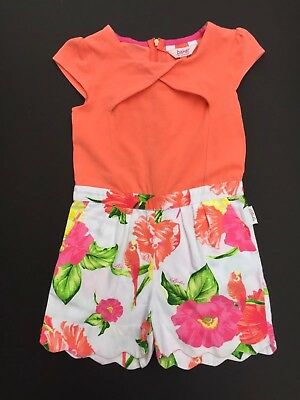 Girls Ted Baker Designer Playsuit Shorts Floral Age 4-5years Party Holiday