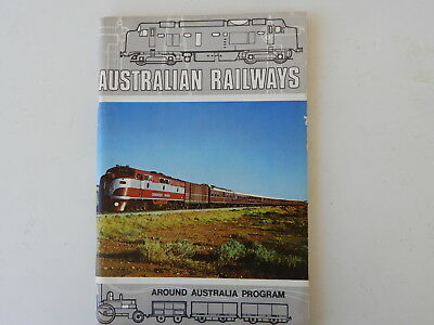 Australian Railways Around Australia Program Booklet/Book