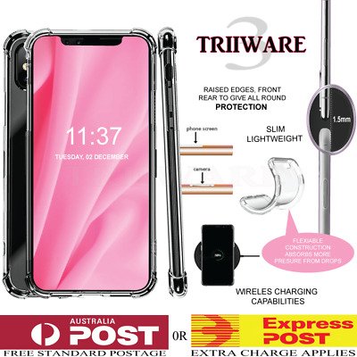 iPhone 6 6s 7 / 8 PLUS X S R 5 S E MAX Case Clear Soft Gel Shockproof Cover