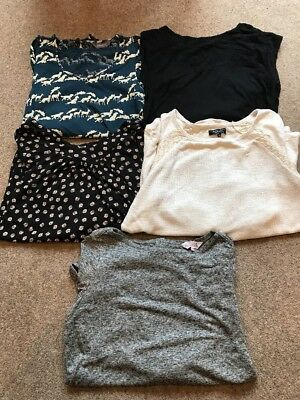 Ladies Bundle Of Maternity Tops Size 10