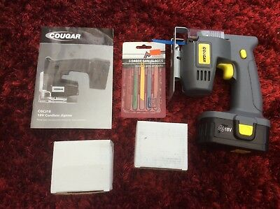 Cougar 18v cordless jigsaw barely used