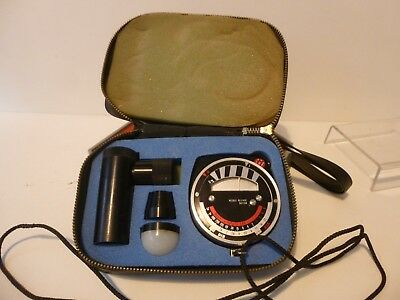 Hanimex Pr-85 Spot Meter With Case And Accessories, Working Order.