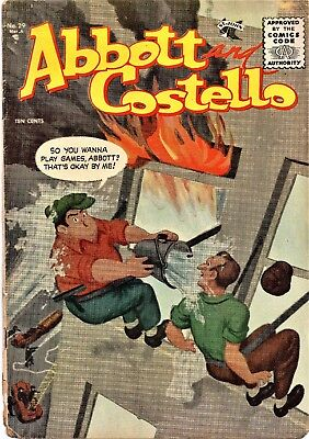 ABBOTT and COSTELLO # 29 GOLDEN AGE ST. JOHN COMIC 1955  PAINTED COVER G/VG