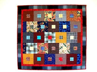 Hand Made Patchwork Quilt Entitled Square Dance