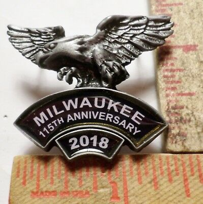 Harley 115th pin collectible HD motorcycle rally Milwaukee 2018 biker pinback