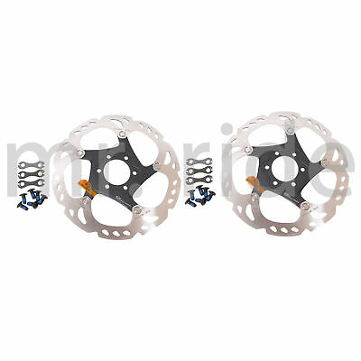 mr-ride Shimano XT Brake Rotor Ice Tech 160mm SM-RT86S x 2pc with Bolts