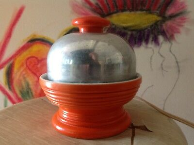egg cooker vintage orange and stainless Hankscraft Co.