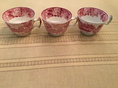 Vintage Enoch Woods English Scenery Wood & Sons England 3 Teacups